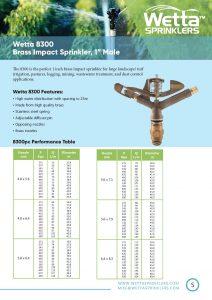 Wetta 8300 Brass sprinkler Brochure