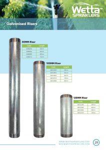 Galvanised Risers