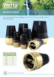 Wetta Brass Foot Valve  brochure